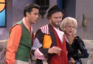 Agent 707 (Jack Jones) Freddie the Freeloader (Red Skelton) and Selma Undercover in The Sweet Smell of Failure