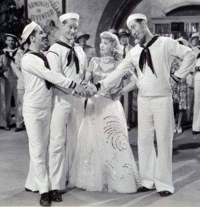 Ben Blue, Red Skelton, Ann Sothern & Rags Ragland in Panama Hattie (1942 film)