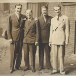 John Boles, Pat Lynch, Gene Curtis and Red Skelton, 1936 in Montreal