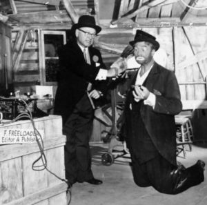 Mickey Rooney and Freddie the Freeloader on The Red Skelton Show, 1962