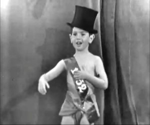Richard Skelton as Baby New Year 1952 at the conclusion of Learn to Dance in Ten Easy Lessons or One Hard One