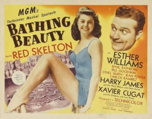 Bathing Beauty movie poster, Esther Williams, Red Skelton