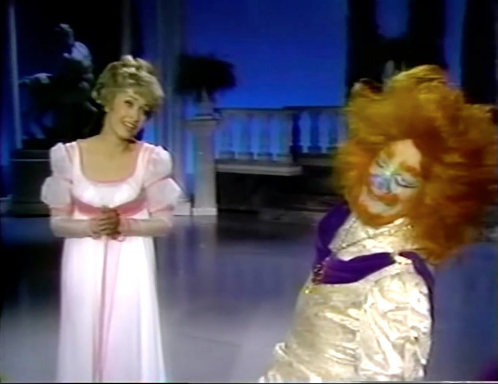 """Jane Powell as Beauty, Cyril Ritchard as The Beast, in """"Fairy Tales for Old Children"""""""