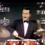 Bob Crane playing the drums in How You Gonna Keep 'Em Down in the Dump?