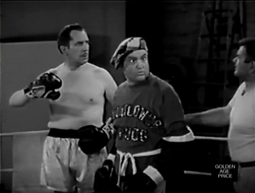 Vincent Price and Red Skelton (as Cauliflower McPugg) in a boxing sketch on The Red Skelton Show