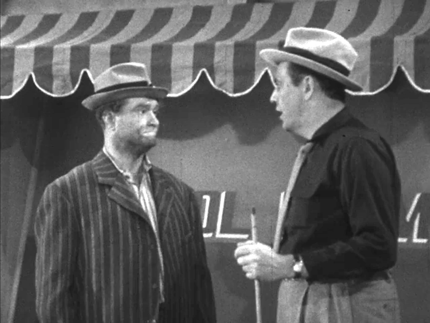 "Red's first appearance as Freddie the Freeloader in the sketch, ""Bum's Rush"" - on ""The Sultan"" episode of The Red Skelton Show"