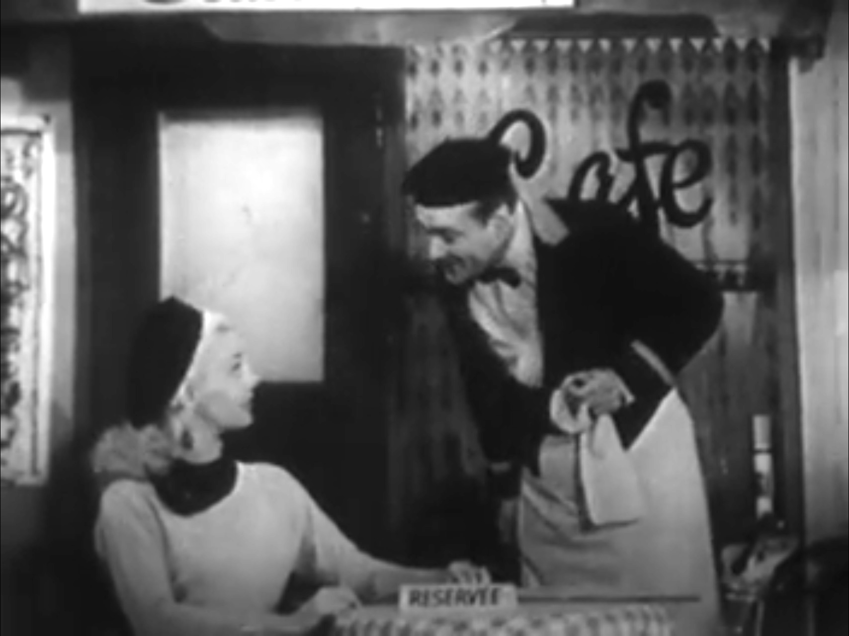 Lucille Knoch and Red Skelton in the Cafe Paree skit on The Red Skelton Show