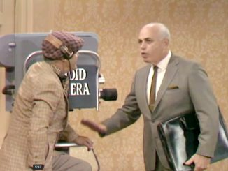 """Allen Funt prepares a Candid Camera trap for George Appleby in """"Better Dead than Wed"""""""