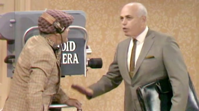 "Allen Funt prepares a Candid Camera trap for George Appleby in ""Better Dead than Wed"""