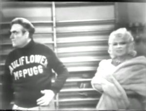 """Cauliflower McPugg and Mae West in """"Goodness had Nothing to do with it"""""""
