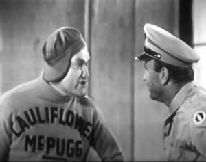 "Cauliflower McPugg (Red Skelton) with his Army sergeant (Gil Perkins) in ""G. I. McPugg"""