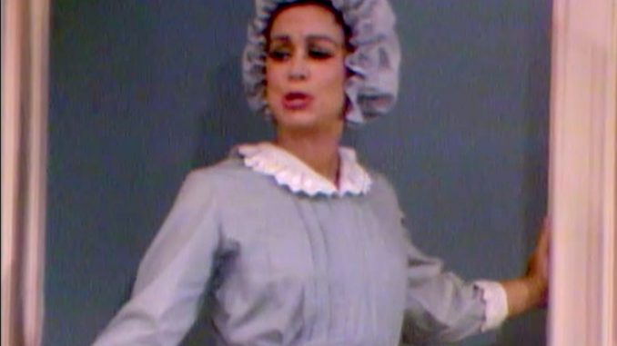 "The amnesiac Clara thinks she's Bridget the maid in ""Who's Afraid of the Big Bad Wife?"""