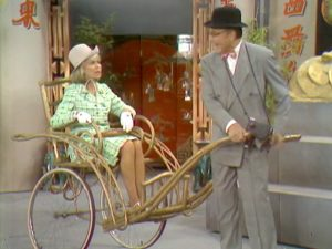 Clara (Emmaline Henry) and George Appleby (Red Skelton) are on vacation in Hong Kong, touring with a rickshaw