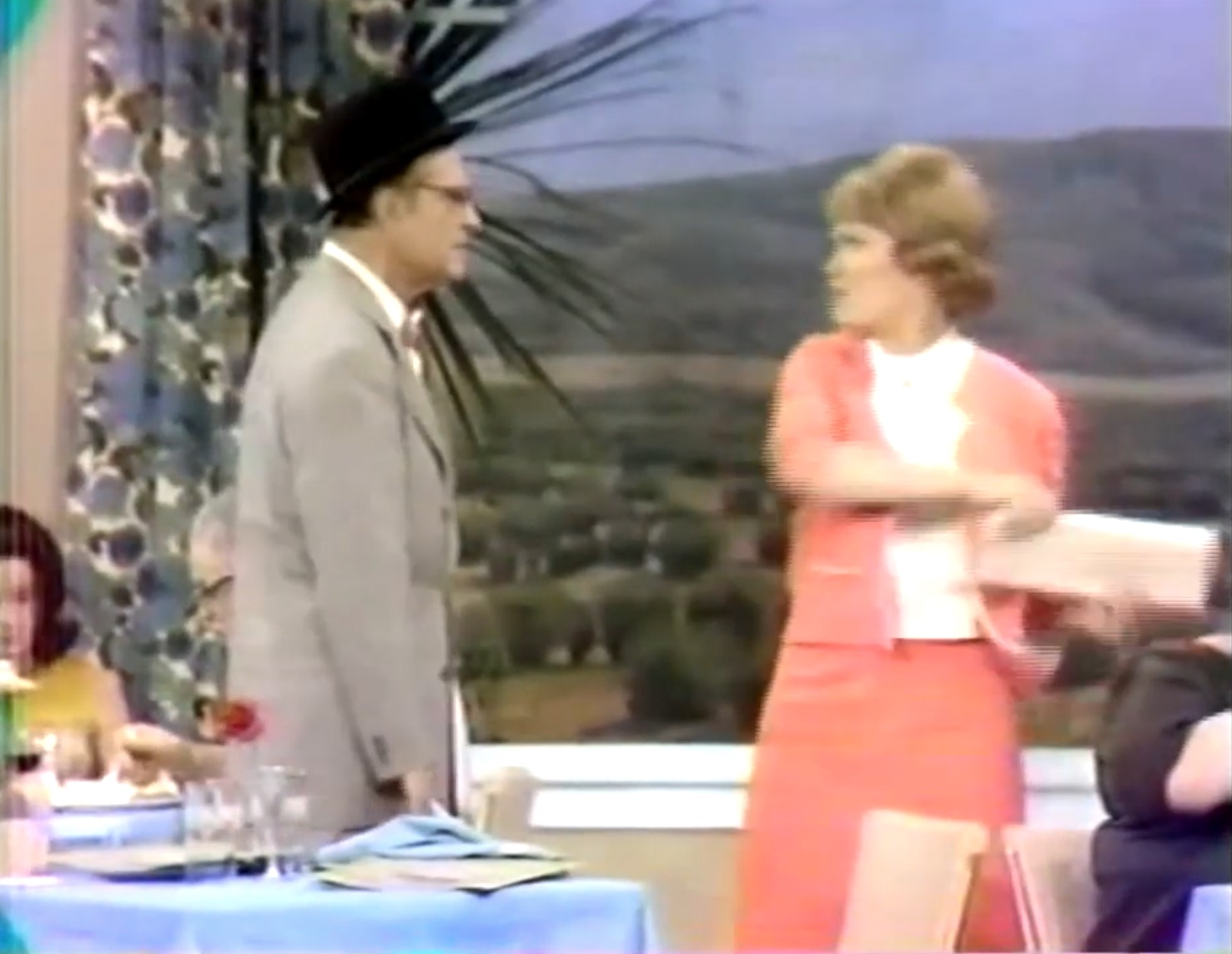"""Clara Appleby (Eve Arden) hits her husband George (Red.Skelton)) in """"Absence Makes the Hate Grow Fonder"""""""