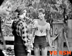 """""""The Greatest Schmo on Earth"""" Season 12 Episode 02 Juliet Prowse joins Red Skelton in the comedy sketch Searching for his wandering sweetheart Daisy June (Juliet), Clem Kadiddlehopper (Red) finds her working as a carnival fortuneteller.  And the owner of the carnival (Phil Harris) is in love with her!"""