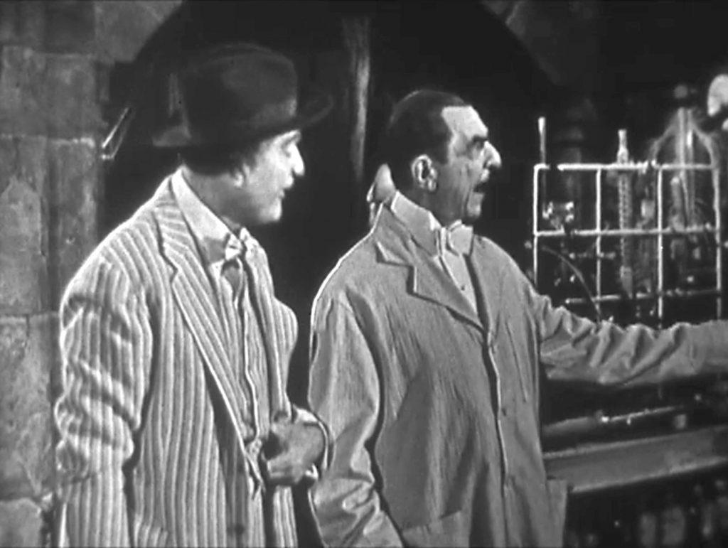 Clem Kadiddlehopper and Bela Lugosi - want to buy a brush?