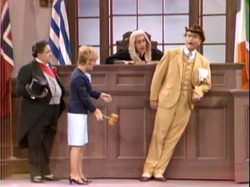 Clem Kadiddlehopper on trial in Stupidity, Italian Style - The Red Skelton Show