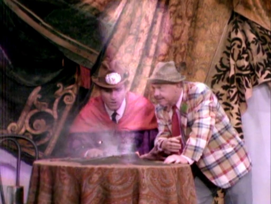 Mickey Rooney breaks Clem Kadiddlehopper's crystal ball, and now faces the Curse of the Kadiddlehopper