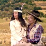 """Deadeye, trying to make time with the Indian Chief's pretty daughter, in """"The Fastest Cuspidor in the West"""""""