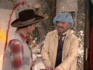 Deadeye and George Gobel in Down the Old Chisholm Trail with the Old Chiseler