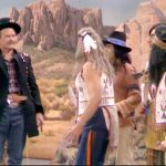 Deadeye, acting as Custer, confronted by real Indians