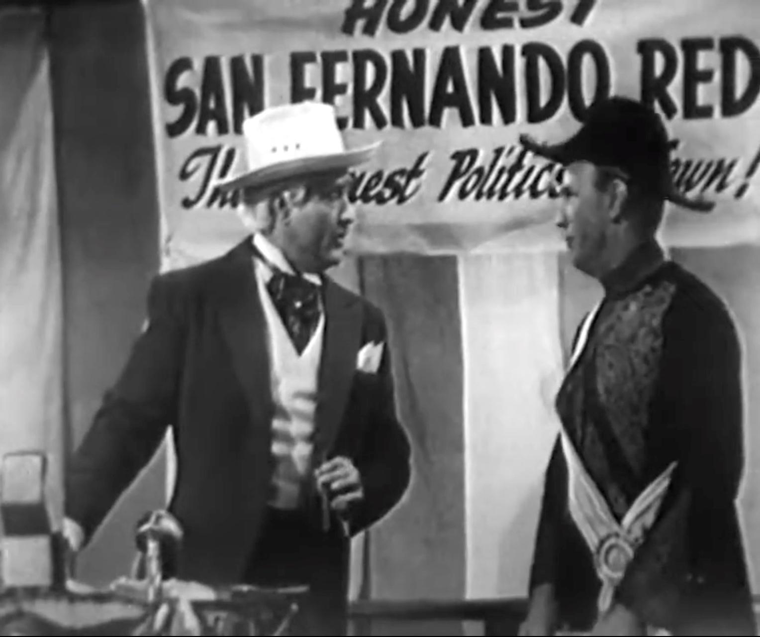 "San Fernando Red learns, Don't say mud! (slap) in ""Clean Politics"""
