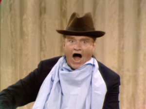 Red Skelton doing his famous Dunking Doughnuts routine