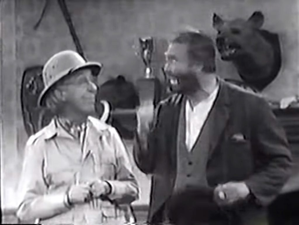 Ed Wynn meets his long-lost son, Freddie the Freeloader, in Half a Loafer is better than None