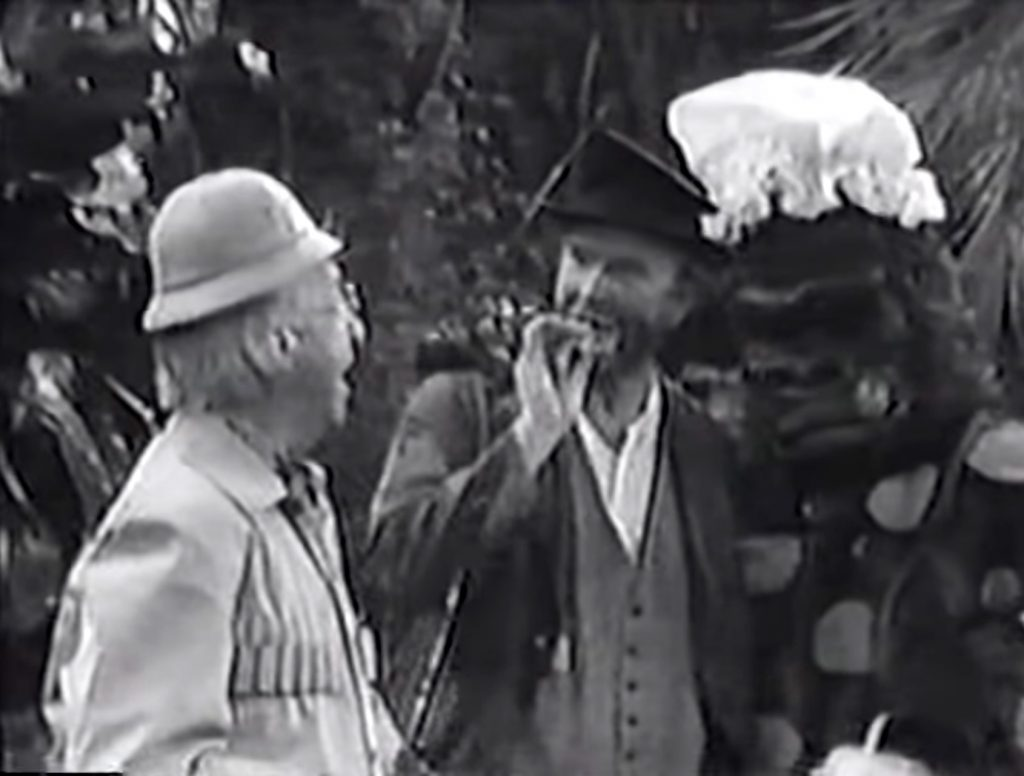 Ed Wynn, Freddie the Freeloader, and Freddie's new fiancee, the polka dot gorilla in Africa