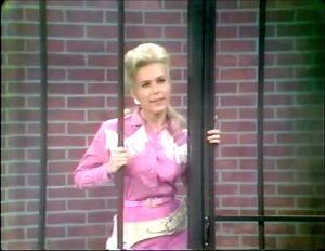 "Elaine Joyce as the lovely prisoner in ""Sheriffs are Bought Not Made"""