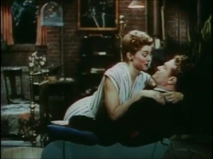 Red Skelton and Esther Williams (as the reconciled newlyweds) in Bathing Beauty