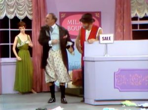 """After the fire sale - """"Bring back my trousers!"""" - Terry-Thomas and Freddie the Freeloader in """"Clothes Make the Bum"""""""