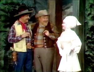 Sheriff Deadeye and Big Pappy meet a beautiful female ghost