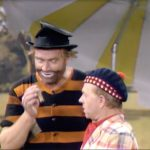 Freddie the Freeloader (Red Skelton) crashes Mugsy's (Mickey Rooney) pool party in Loafer Come Back to Me