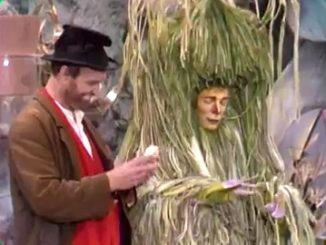Freddy the Freeloader (Red Skelton) with the flu bug (Christopher Carey) in The Bum Who Came in from the Cold