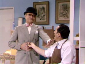 """George Appleby being needled by his boss, Henry Corden, in """"The Agony and the Nag-Ony"""""""