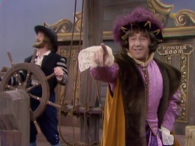 George Gobel as Christopher Columbus in Yo Ho Ho and a Bottle of Dumb