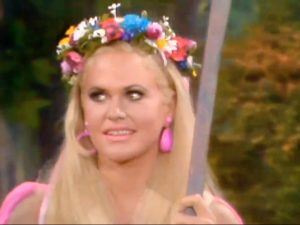 """Hands Off Hannah (Nancy Ames), the high priestess of purity in """"Hippie Days are Here Again"""""""