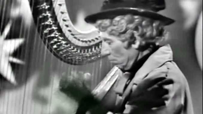 """Harpo Marx playing his own composition, """"Guardian Angel"""", on The Red Skelton Hour - """"Somebody Up There Should Stay Up There"""""""