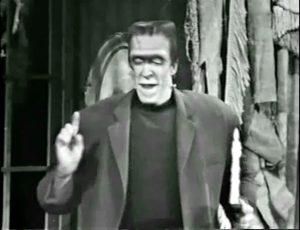 "Fred Gwynne as Herman Munster in ""Ta Ra Ra Bum Today"""