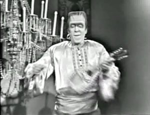 "Herman Munster (Fred Gwynne) performs ""Gypsy Melody"" in the conclusion of ""Ta Ra Ra Bum Today"""