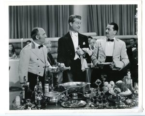"Waiters with Red Skelton (in a ""borrowed"" tuxedo) in I Dood It"
