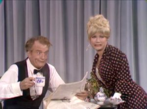 Joyce Jameson: To show you how much I love you, I'll never poison your coffee again! Red Skelton reacts