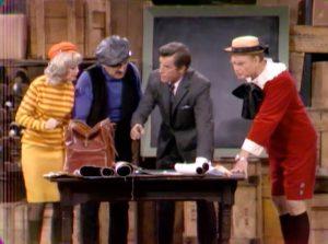 "Junior (Red Skelton) breaks into the jewel thieves hideout in ""Bratman"""