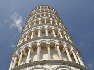 The Leaning Tower of Pisa, which Clem Kadiddlehopper ruins in Stupidity Italian Style