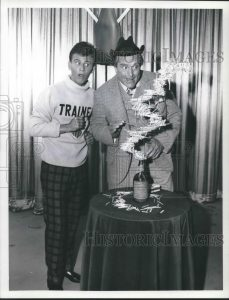 Bobby Rydell and Red Skelton as Clem Kadiddlehopper in Loco Boy Makes Good, an episode of the Red Skelton Show