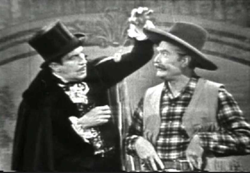 Vincent Price tries to hypnotize Deadeye in Deadeye and the Magician