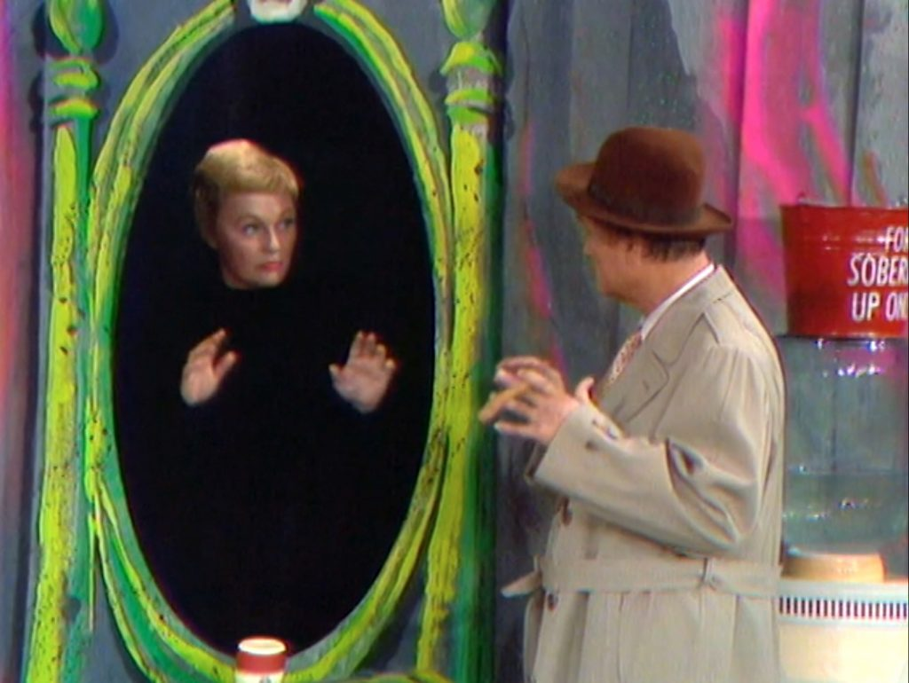 Pat Carroll as Mrs. Lump-Lump doing the mirror routine with Willie Lump-Lump