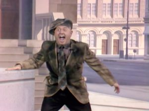Mickey Rooney as Mugsy the hobo in Loafer Come Back to Me