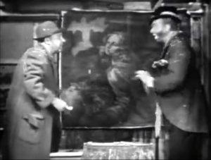 Mugsy and Freddie with the original da vinci